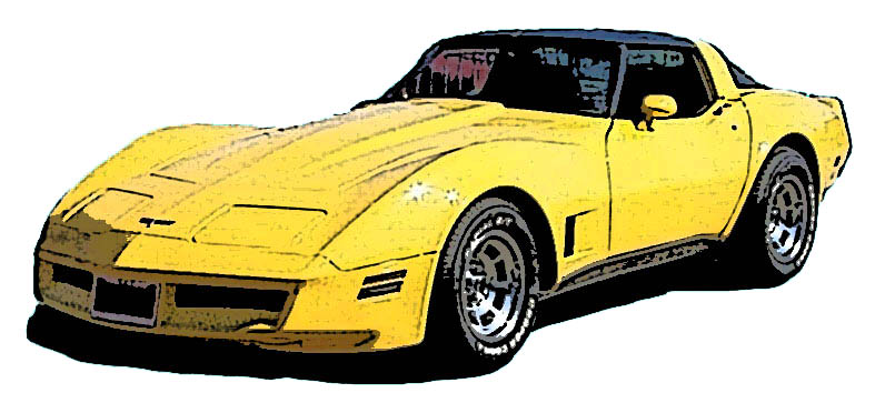 Yellow clipart corvette Black art #927 Corvette of