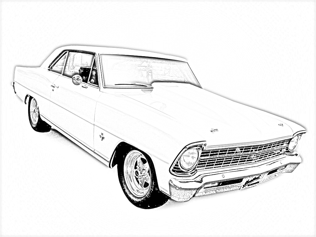 Chevrolet clipart muscle car Old Coloring coloring  Large