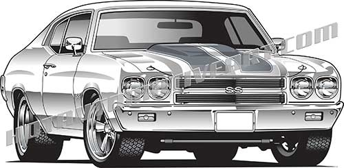Chevrolet clipart muscle car Muscle front vector car two