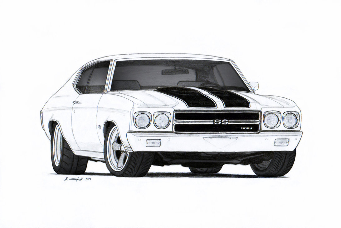 Chevrolet clipart muscle car 1970  SS by on