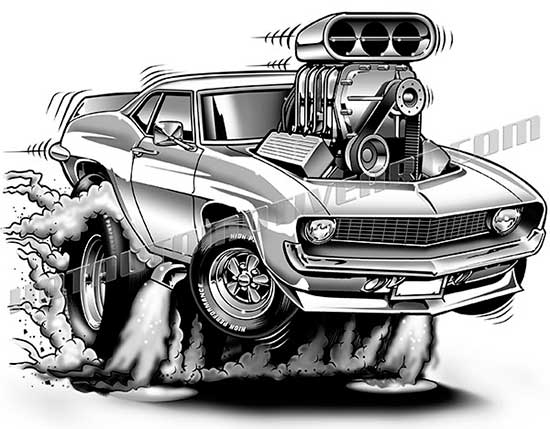 Chevrolet clipart muscle car 1969 two cartoon  quality