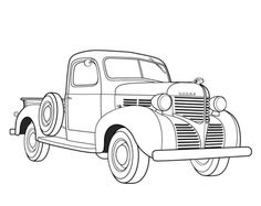 Chevrolet clipart original Clipart Truck On Car Drawings
