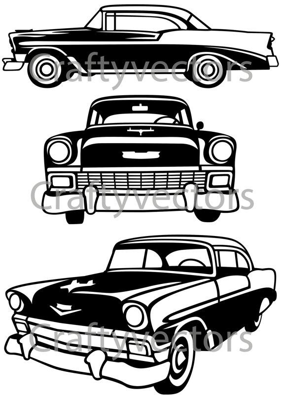 Chevrolet clipart vector Chevrolet Bel 1956  Vector
