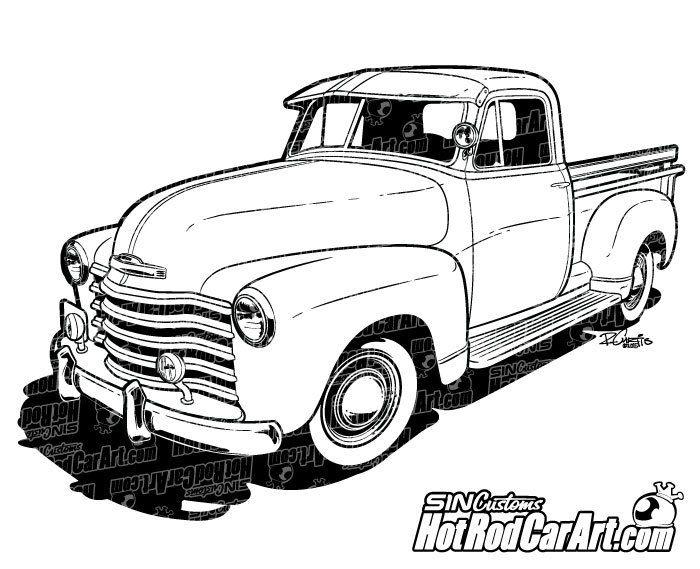 Classic clipart ford truck Classic 1947 17 Pinterest best