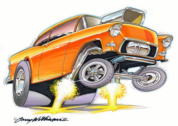 Chevrolet clipart yellow car Chevy Cartoonish Clipart Pscho Chevy