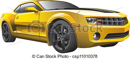 Chevrolet clipart yellow car Muscle Vector car image of