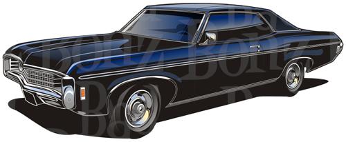 Chevrolet Impala clipart Martinowsky Brian 1969 1969 Chevy