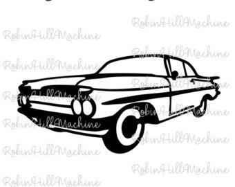 Chevrolet Impala clipart Laser Impala Chevrolet Etsy file