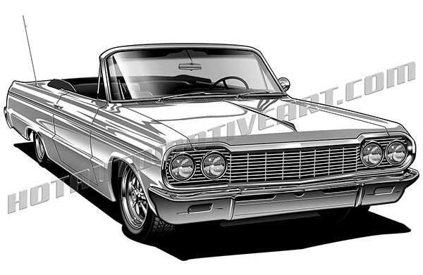 Chevrolet Impala clipart Quality convertible Impala view impala