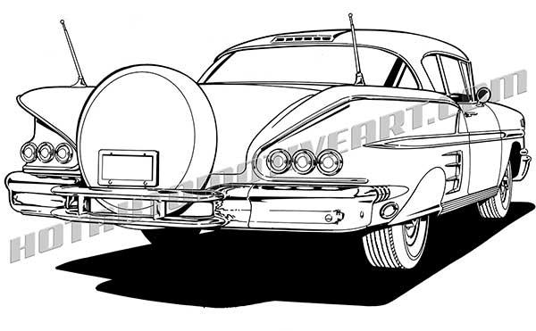 Chevrolet Impala clipart Rear / Impala free 3/4