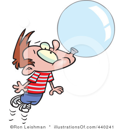 Chewing Gum clipart cartoon character Gum Bubble Clipart