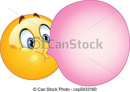 Chewing Gum clipart cartoon Of Clipart Emoticon  emoticon