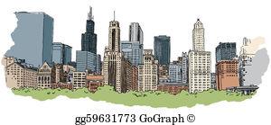 Chicago clipart Stock Clipart skyline chicago Illustration
