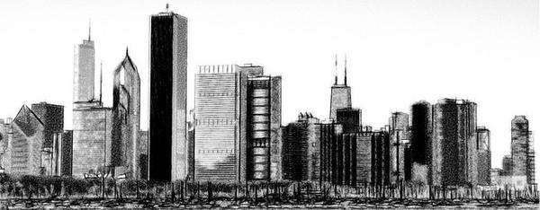 Chicago clipart Chicago Skyline  Chicago Silhouette