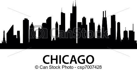 Chicago clipart Silhouette Silhouette Skyline Chicago Clip