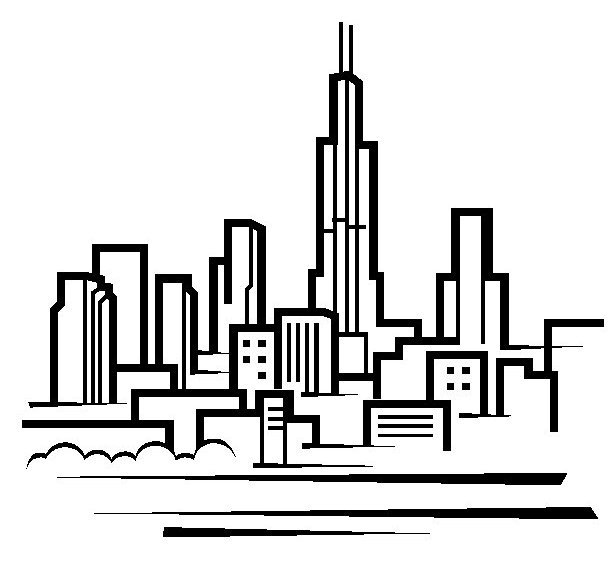 Chicago clipart Drawing Cliparts Clipart Skyline Clipart