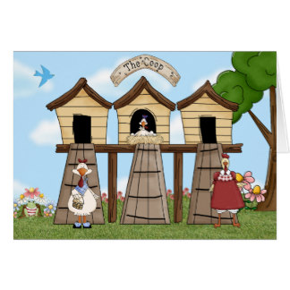 Chick clipart chicken house Card Zazzle Chicken Coop on