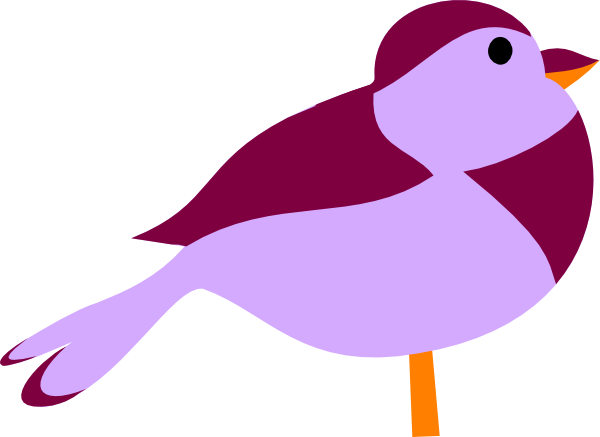 Brds clipart purple Clipart Clipart Bird Purple Little