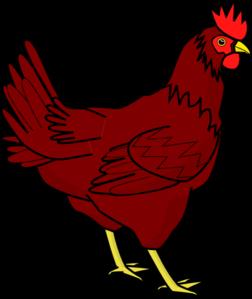 Chicken clipart rhode island red Red Red hen Island free