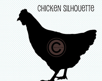 Chicken clipart solid black Silhouette Illustrations Chicken PNG Art