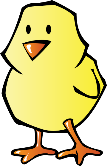 Chicken clipart spring chick Glossy Chick Chick Spring glossy
