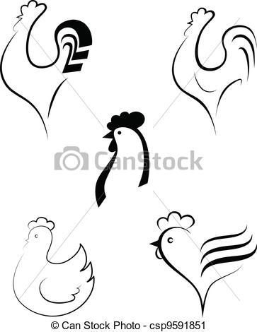 Chicken clipart logo Vector cockerel  and Chicken