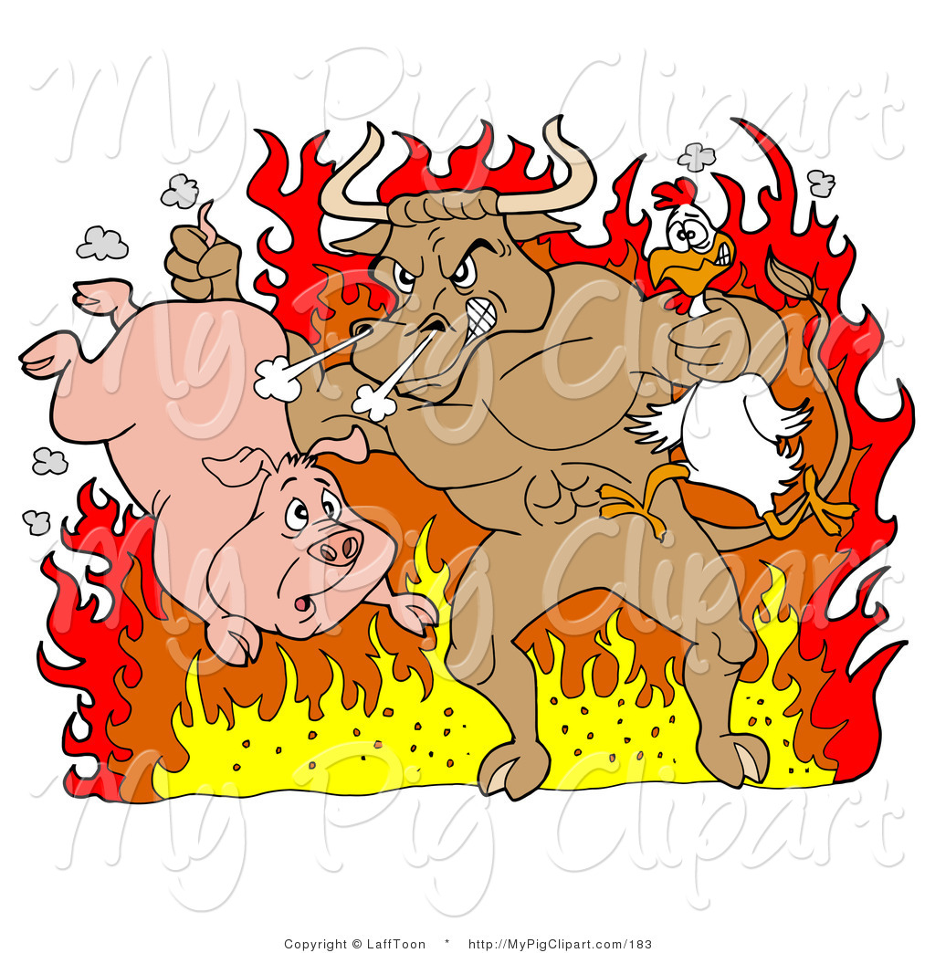 Bull clipart bbq Pig of Pig Brown a