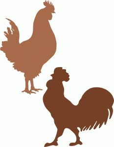 Chicken clipart shape Chicken from Silhouette Silhouettes Clip