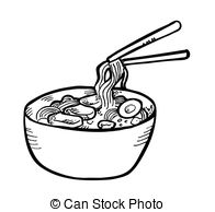 Chicken Soup clipart black and white Style Stock Soup  and