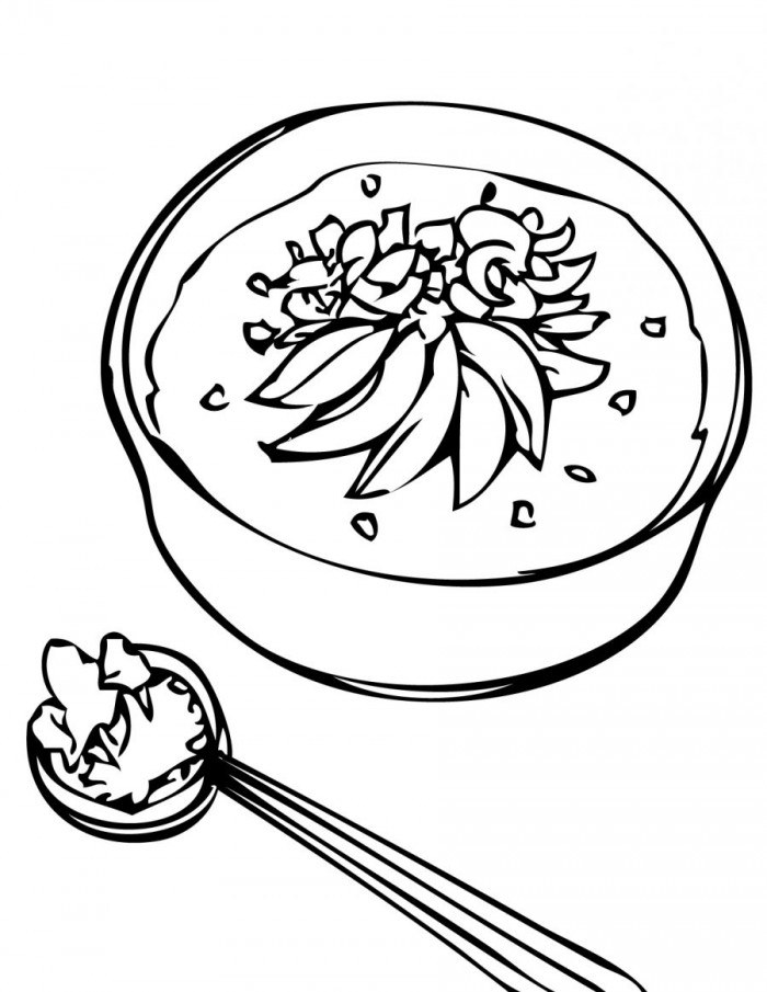 Chicken Soup clipart black and white Coloring of Can Page Warhol