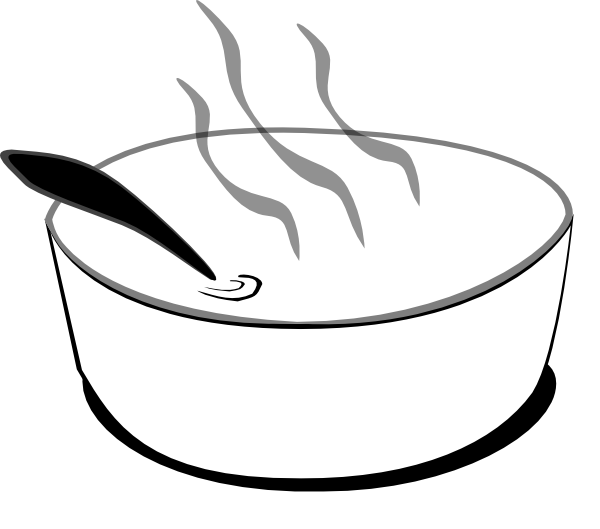 Chicken Soup clipart black and white And Free White Panda Clipart