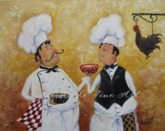 Chicken Soup clipart chef cooking Art paintings Chefs art wall