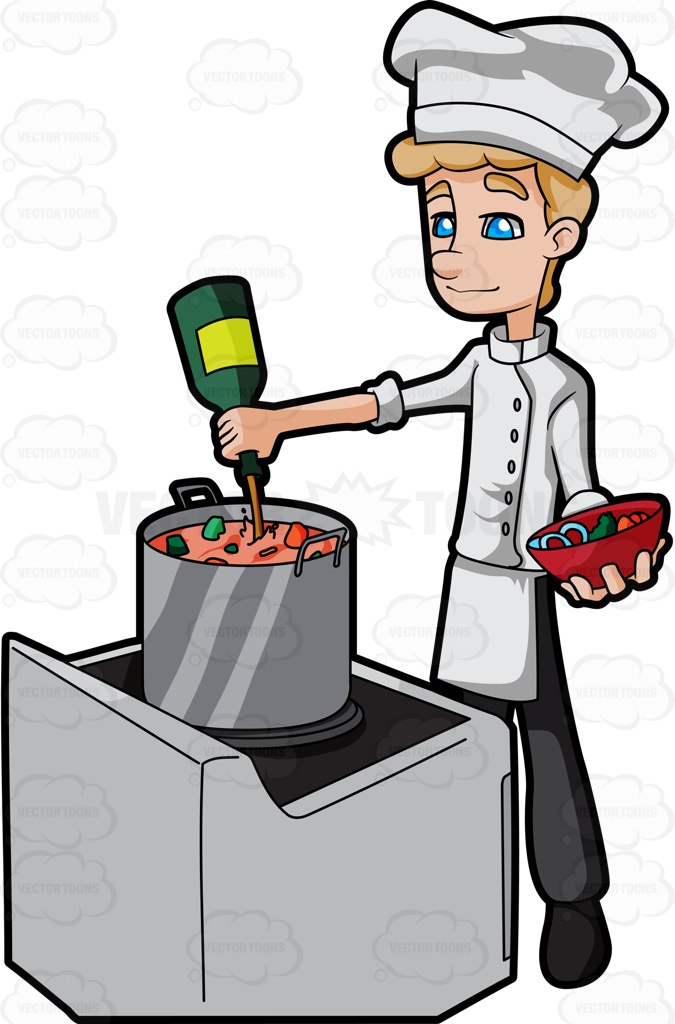 Chicken Soup clipart chef cooking Male An A Alcohol Cartoon