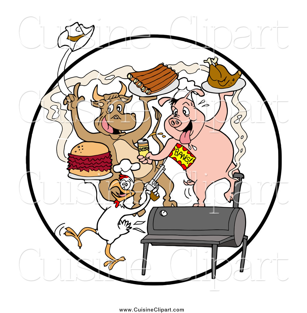 Chicken Soup clipart chicken bbq Cuisine and a Poultry Cow