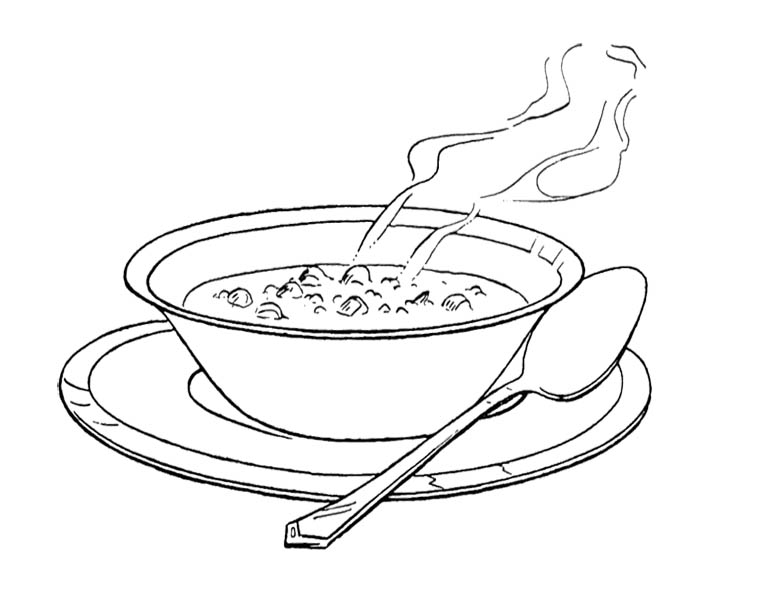 Basket clipart field And Soup and Coloring For
