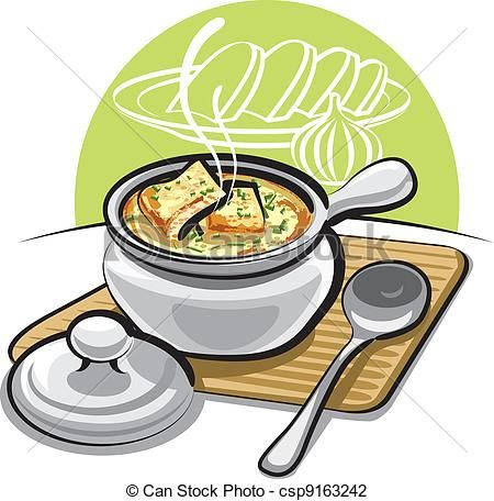 Soup clipart cookbook Clipart Free Art Pinterest Illustration