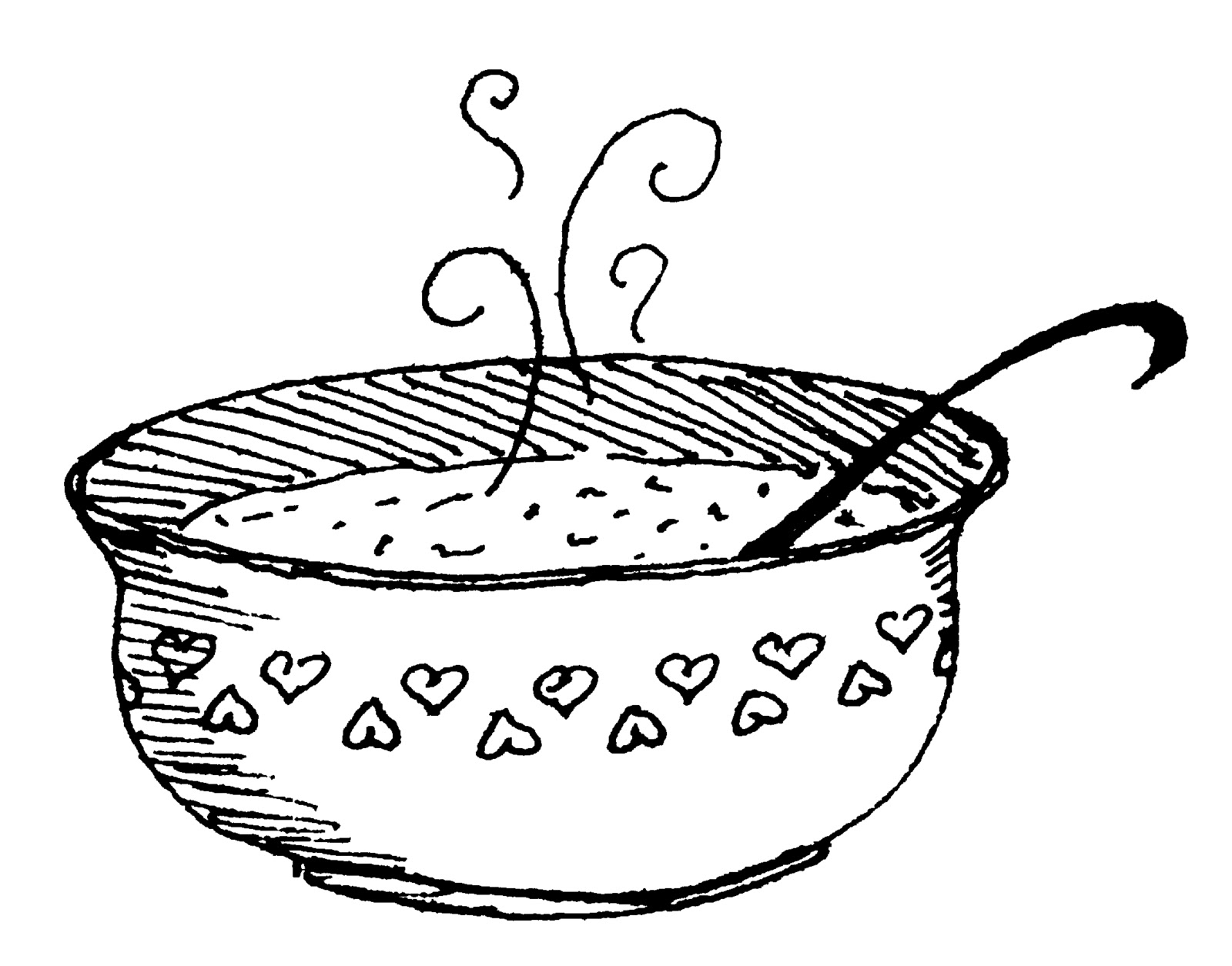 Stew clipart black and white Of Of soup Clipart photo#13
