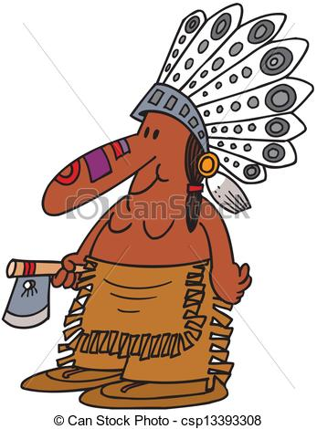 Chief clipart Of Mascot Indian Clipart Vector