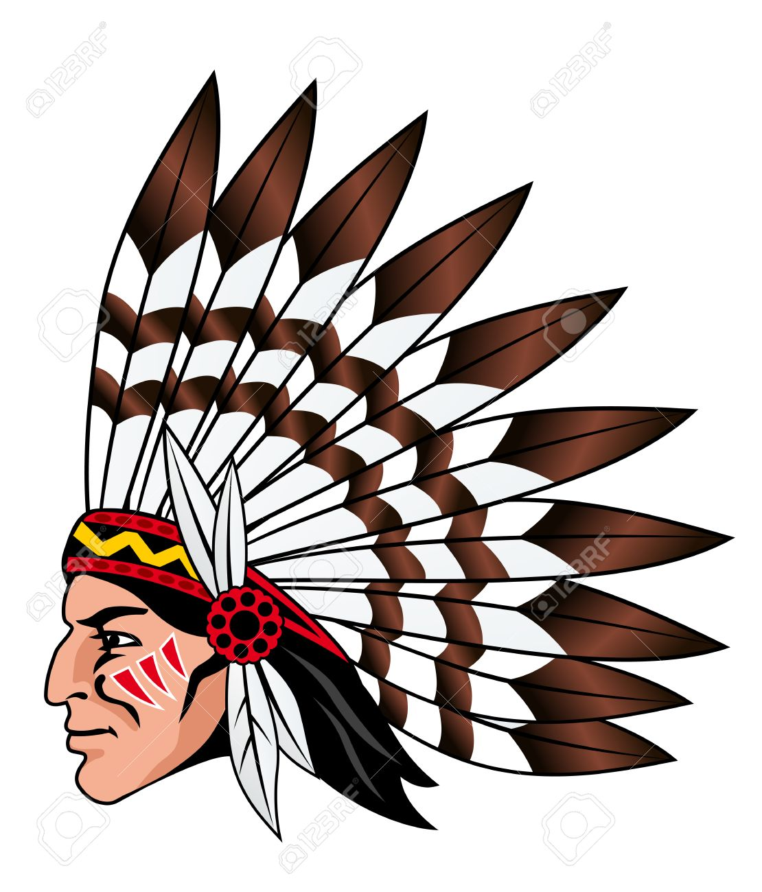 Indian clipart sad Head image american american head
