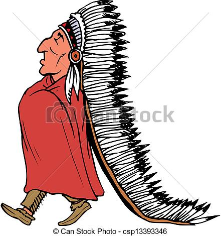 Chief clipart Indian Indian Chief of Vector