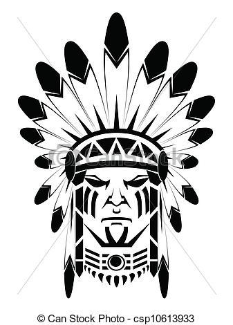 Chief clipart apache indian Logo  de Blue de