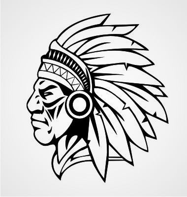 Chief clipart apache indian Indian Cliparts Mascot Zone indian