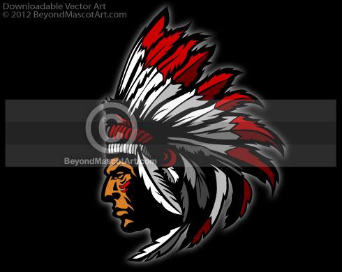 Chief clipart indian basketball Mascot Team Mascot 0032 Art