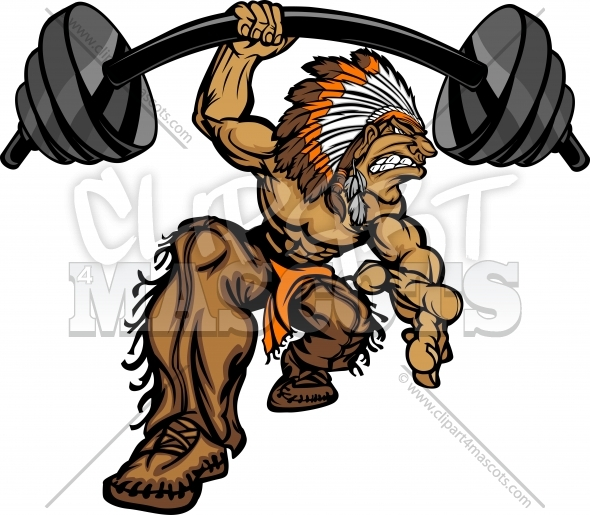 Chief clipart indian basketball Lifting Cartoon of Indian Weightlifting