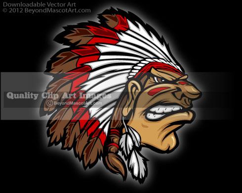 Chief clipart indian basketball Mascot Team Cartoon 0127 Art