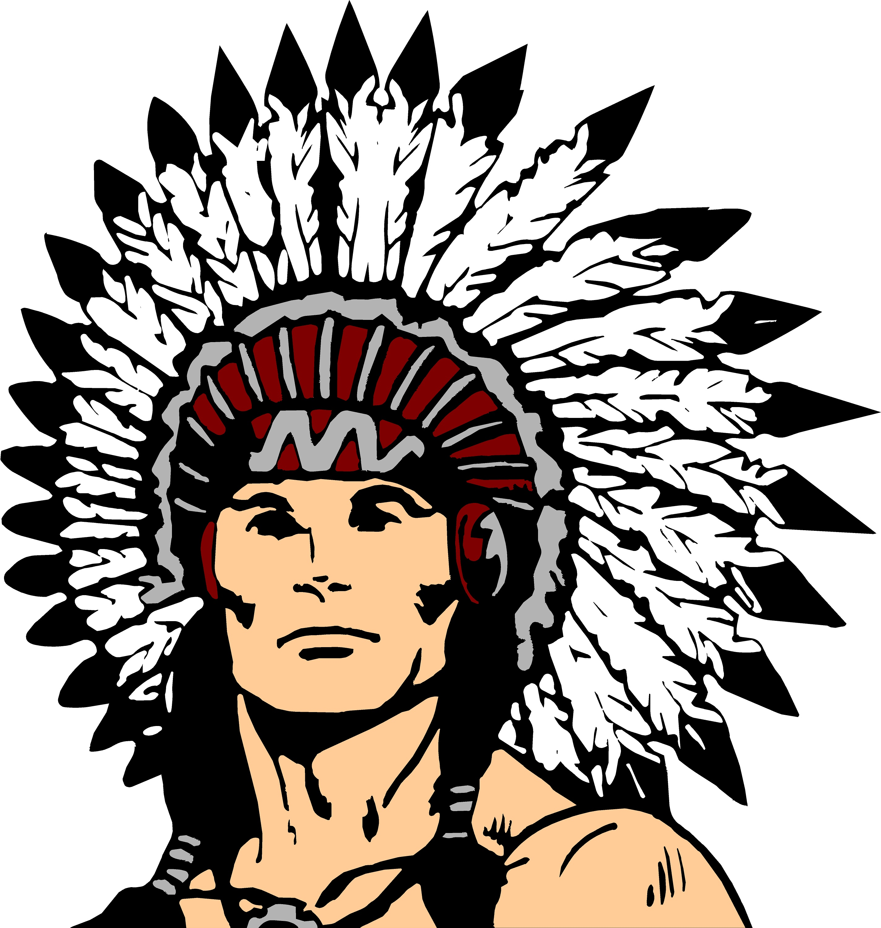 Chief clipart indian basketball Jpg?id=2676 indian Strafford Indians Athletics