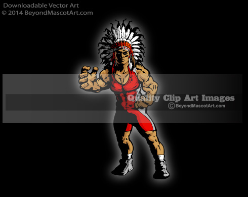 Chief clipart indian basketball Clip Mascot Wrestling 1492 Indian