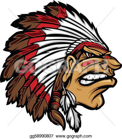 Chief clipart indian headdress Indian GoGraph Head Art Clip