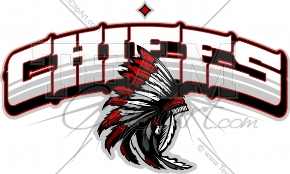 Chief clipart indian mascot Mascot Logo Indian Design Text