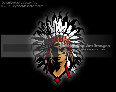 Chief clipart indian mascot Clip Mascot Clipart Team Chief
